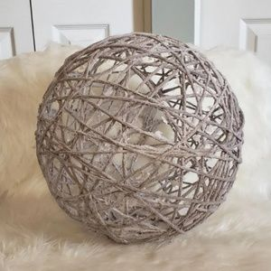 """Other - Gray Yarn Ball.Home Decor, Accent App. 12"""" Tall"""